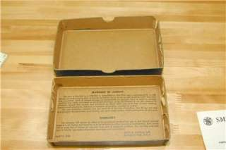 Smith Wesson S&W Gun Pistol box 34 Kit GUN VINTAGE 1955