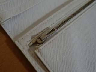HERMES White Epsom Leather Bearn Bi fold Long Wallet Brand New