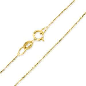 14 Karat Gold Filled Box Style Necklace 16 inches Peora