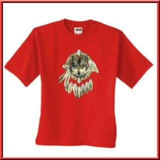 Spirit Of The Wolf Dreamcatcher Native American Indian T Shirt S XL,2X