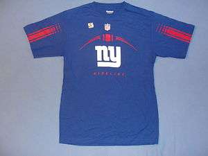 Mens N.Y New York Giants Official Sideline T Shirt M Jersey Blue