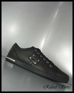 Men Shoes Sneaker DOLCE & GABBANA Black Leather Limited New Winter