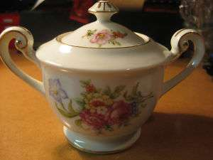 Berkshire Ware Occupied Japan Sugar Bowl Floral AS IS