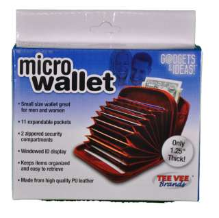 Brown Leather Multi Pocket Micro Wallet As Seen On TV 0688267574139