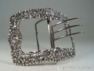 NAPOLEONIC LATE 18thC LARGE FRENCH STERLING SILVER BUCKLE