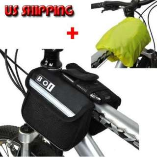 New Cycling Bike Black Bicycle Frame Pannier Front Tube Saddle Bag