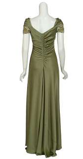 Captivating TERI JON Beaded Eve Gown Dress 10 NEW