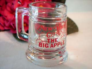 NEW YORK CITY   BIG APPLE BEER MUG STYLE SHOT GLASS
