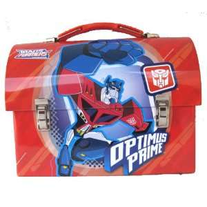 Transformers Dome Metal Red Tin Lunch Box