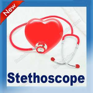 Double Dual Head Stethoscope Clinical Chrome plated Metal Binaural