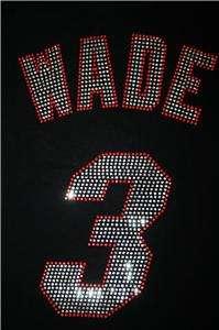 Miami Heat Dwayne Wade Bling Jersey Tank Top Tee Shirt