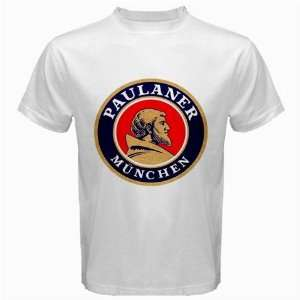 Paulaner Beer Logo New White T Shirt Size  S