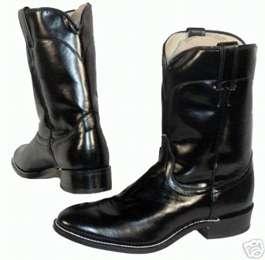 MENS 10 LAREDO BLACK ROPER COWBOY BOOTS 9.5 D NEW