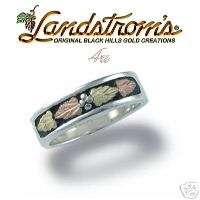 Black Hills SS Gold Unisex Wedding Ring Size 7 G408