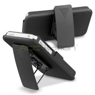 BLACK Slide Case with Belt Clip Swivel Holster Stand for iPhone 4 4S