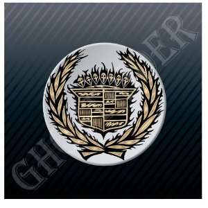 Cadillac Logo Emblem Skulls Art Sticker Decal Everything