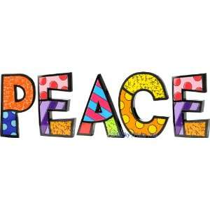 PEACE Word Art for Table Top or Wall by Romero Britto