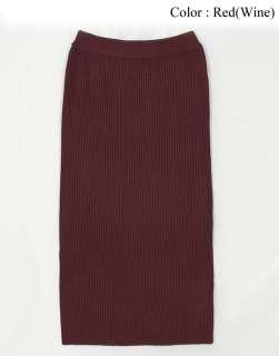 AnnaKastle New Womens Ladies Wool blended Rib pattern Knit Long Skirt