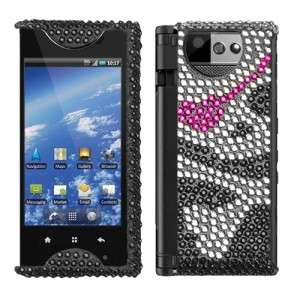 Skull Crystal Bling Hard Case Phone Cover Kyocera Echo