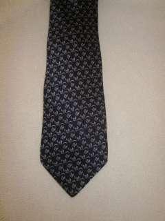 Mens Valentino Cravatte Blue & Purple 100% Silk Italian Tie EUC