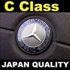 mercedes benz blue logo c class steering wheel emblem horn
