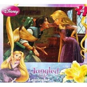 Disney Princess Tangled Lenticular Puzzle 48 Pieces Toys & Games