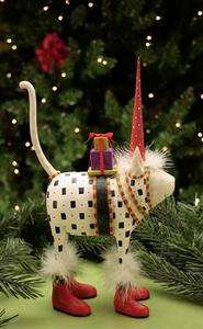 PATIENCE BREWSTER KRINKLES PAT SANTA HAT CAT FIGURE