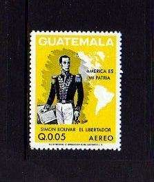 GUATEMALA   1973   SIMON BOLIVAR   MAP   MINT   SINGLE
