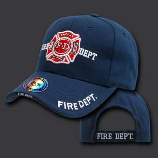 FIRE DEPARTMENT BASEBALL CAP CAPS HAT HATS BLUE USA