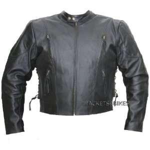 MENS MOTORCYCLE HEAVY DUTY LEATHER BIKER JACKET S