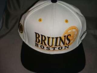 BOSTON BRUINS NHL REEBOK SNAPBACK HAT CAP RETRO WHITE