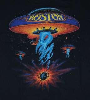 Boston Spaceship Album Cover Band Vintage Style T Shirt Tee