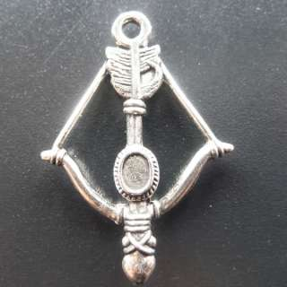 Shipping 130pcs tibetan silver bow and arrow Charms 36x25mm