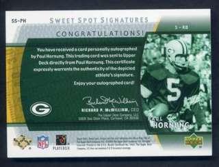 2004 Sweet Spot Signatures Paul Hornung Auto SP