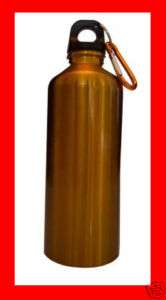 20 oz. Gold Stainless Steel Water Bottle w/ Hiking Clip