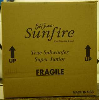 SUNFIRE TRUE SUBWOOFER SUPER JUNIOR