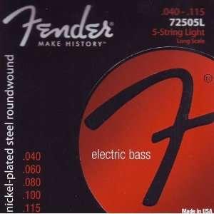 Fender Bass Guitar Nickelplated Steel Super Bass Long Scale 34, .040