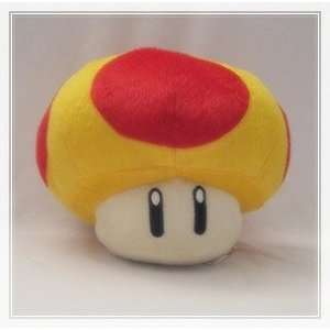 Super Mario Brothers  Mushroom Plush   6 (Yellow +Red