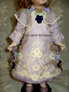 14 FRENCH DOLL DRESS PATTERN ANTIQUE STYLE ~ CHANTELLE