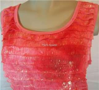 New Fashion Bug Womens Plus Size Clothing Pink Tank Top Shirt Blouse