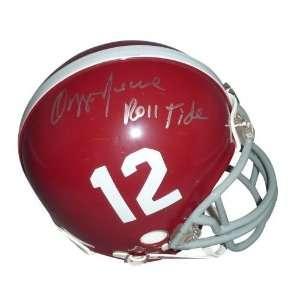 Autographed Ozzie Newsome Mini Helmet   Alabama Crimson Tide w/ Roll