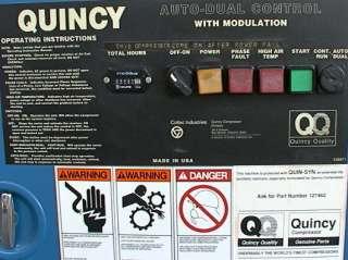15HP Quincy Rotary Air Compressor Auto Dual Control Mod