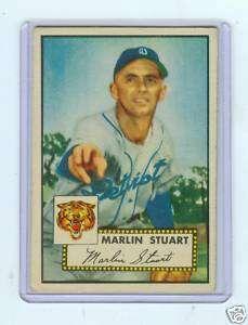 1952 TOPPS #208 MARLIN STUART   DETROIT TIGERS