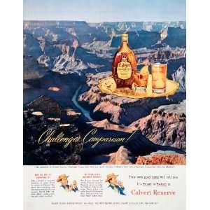 1950 Ad Calvert Reserve Blended Whiskey Grand Canyon