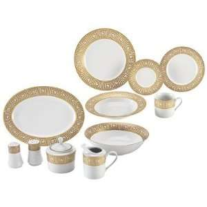 Nikita™ 47pc Fine Porcelain China Set with Gold Tone