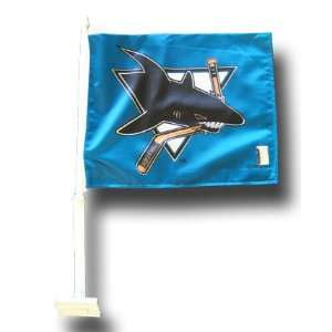 San Jose Sharks (Style2)   NHL Car Flags Patio, Lawn
