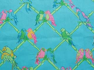 BABY BURP CLOTH LILLY PULITZER FABRIC BIRDS IN PARADISE
