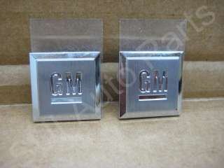 Mark Emblems Badge GM Logo Decal OEM GM (C33 3z)(Qty 2)
