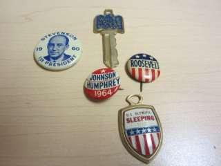 VINTAGE POLITICAL PINS CAMPAIGN BUTTON LOT~JOHNSON & HUMPHREY