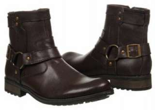 Steve Madden Mens Leather Ankle Boot, Black or Brown